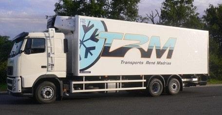 Transports madrias froid négatif logistique surgelés fougeres bretagne plateforme