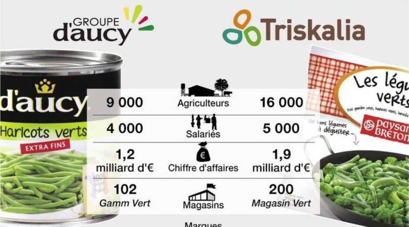 D'Aucy et Triskalia fusion acquisition industriel agroalimentaire Bretgne coopérative